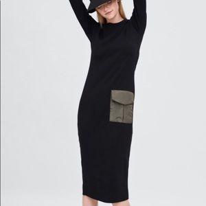 Zara Trafaluc Ribbed With Pocket Dress Size Medium